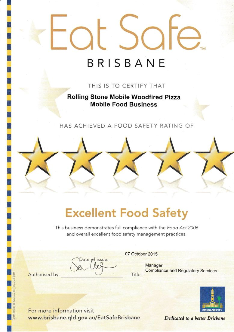 Rolling Stone Mobile Woodfired Pizza Qld Catering